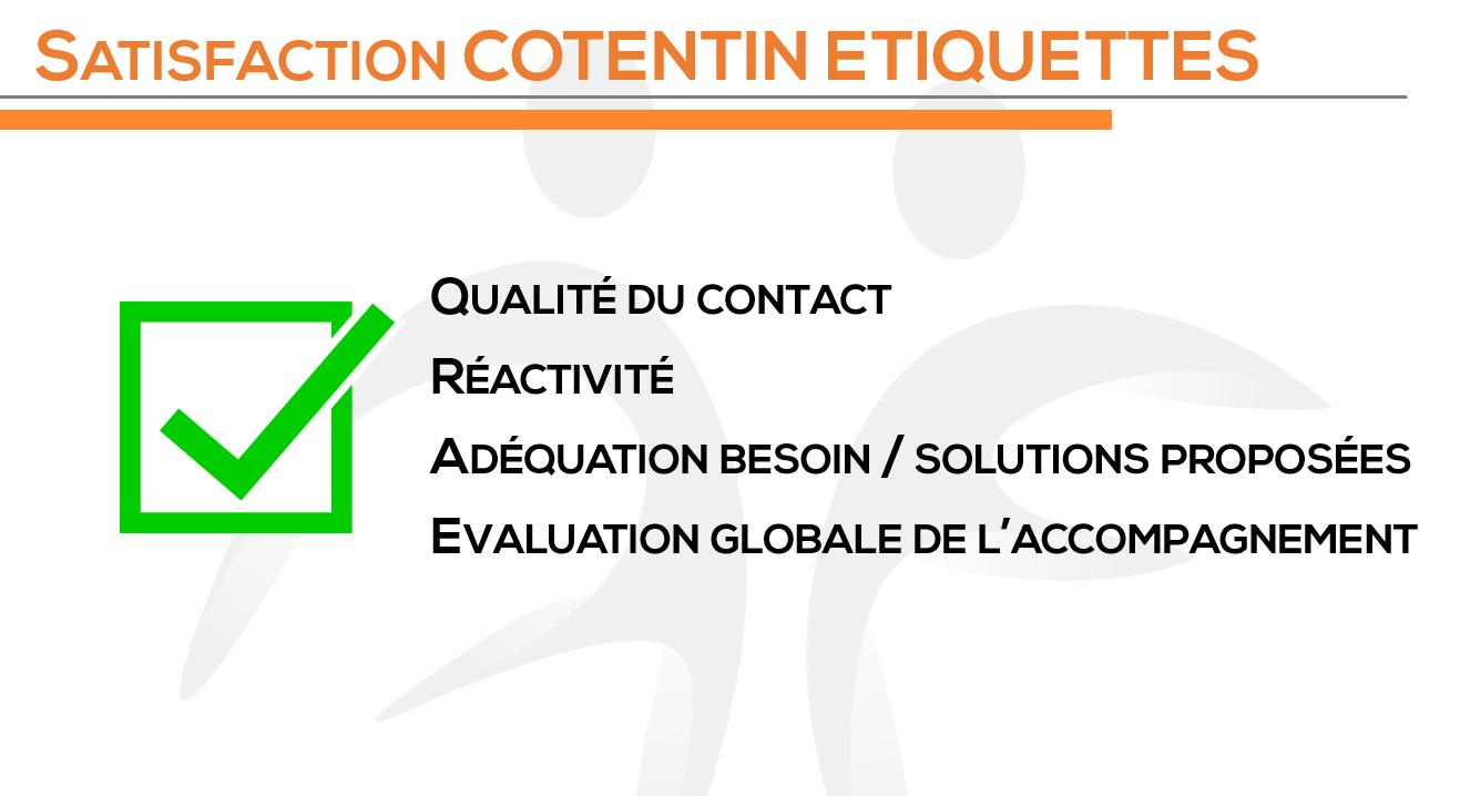 SATISFACTION COTENTIN ETIQUETTES
